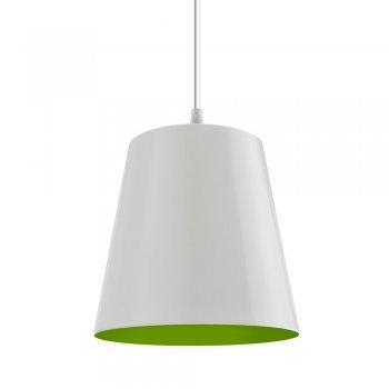 Pendente TYP I 17x18cm Branco Verde Fio Branco