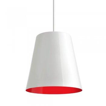 Pendente TYP I 17x18cm Branco Vermelho Fio Branco