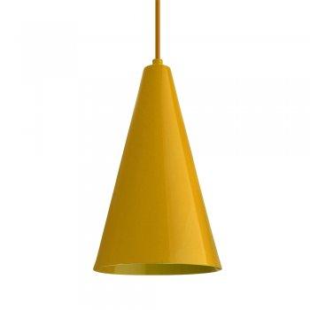 Pendente Cone  25x15cm  Amarelo