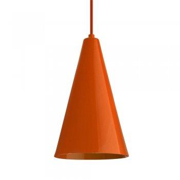 Pendente Cone  25x15cm  Laranja
