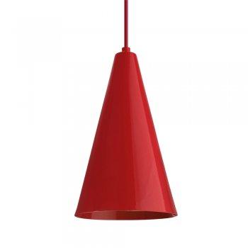 Pendente Cone  25x15cm Vermelho