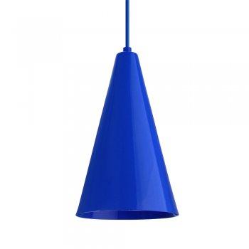 Pendente Cone  25x15cm Azul Metalico