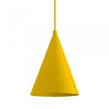 Pendente Mini Cone 18x14cm Amarelo