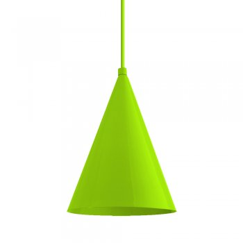 Pendente Mini Cone 18x14cm Verde Citrico