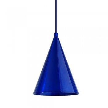 Pendente Mini Cone 18x14cm Azul Metálico