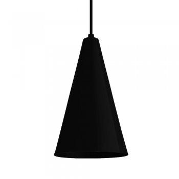 Pendente Cone GDE 30x12cm Preto Fosco